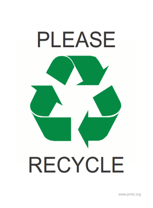 photograph about Recycling Sign Printable named Be sure to Recycle Indication
