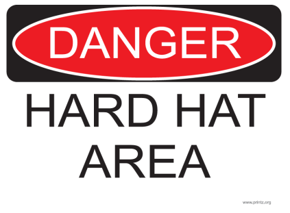 Danger Hard Hat Area