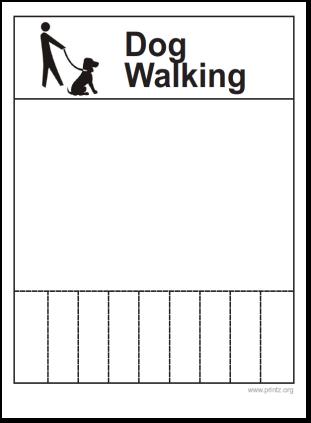 dog walking flyer. Black Bedroom Furniture Sets. Home Design Ideas