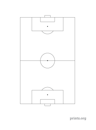 photo about Soccer Field Printable titled Printable Football Marketplace Diagram