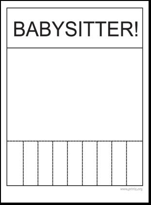 babysitting flyer