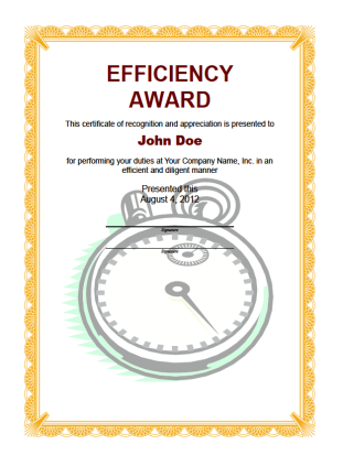 Efficiency Award