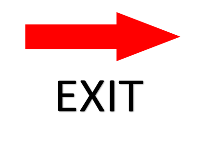 image regarding Printable Exit Sign titled Exit Immediately
