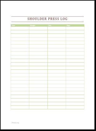 Shoulder Press Log