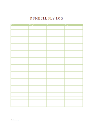 Dumbell Fly Log