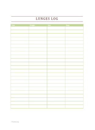 Lunges Log