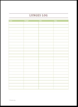 Lunges Log