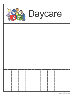 daycare flyers printables