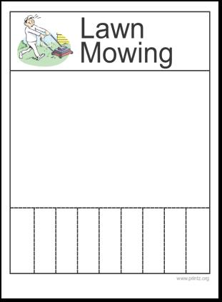 Lawn Mowing Flyer
