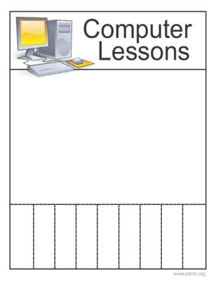 Computer Lessons Flyer
