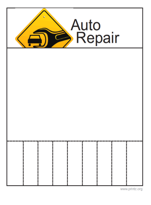 Auto Repair Flyers on Auto Repair Flyer