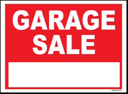 Modest image inside printable garage sale signs