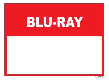 Blu-Ray Sale Sign