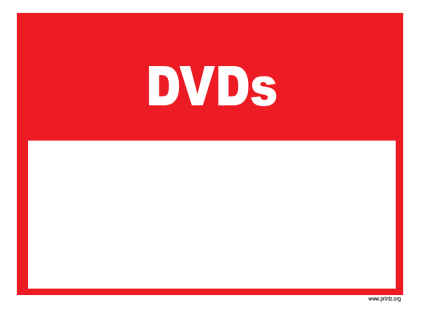 DVD sale sign