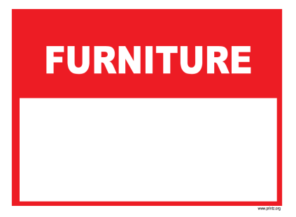furniture sale sign. Furniture Sale Sign W
