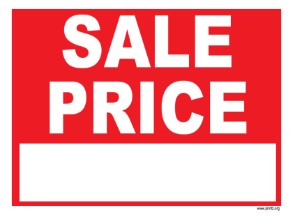 Sale Price Sign