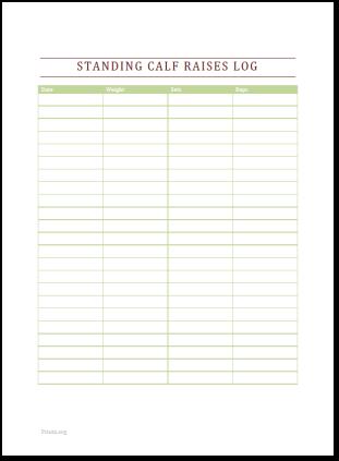 Standing Calf Raises Log