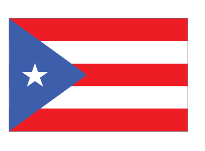 Geeky image within printable puerto rican flag