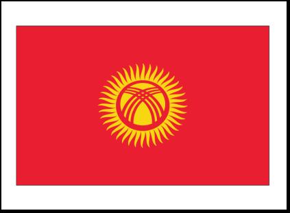 Kyrgystan Flag