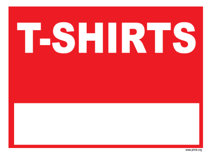 TShirts Business Sign