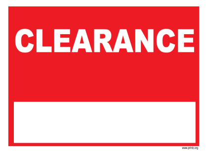 Http Www Printz Org Signs Business Signs Clearance Sign