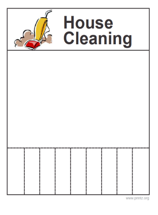 House Cleaning Flyer