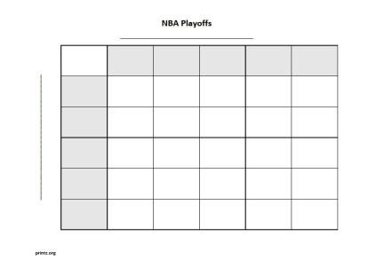 NBA Playoffs 25 Squares