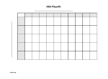 NBA Playoffs 50 square grid