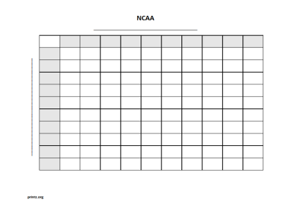 NCAA 100 square grid
