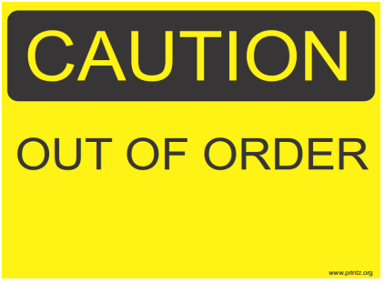 Sorry restroom out of order sign sku s2 1262 of bathroom Printable bathroom out of order sign