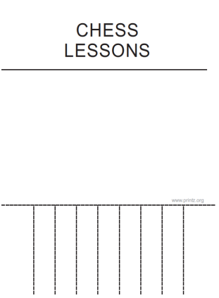 Chess Lessons Flyer
