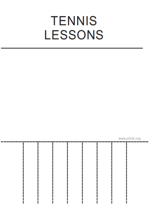 Tennis Lessons Flyer