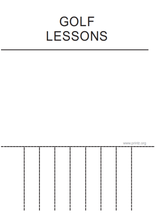 Golf Lessons Flyer