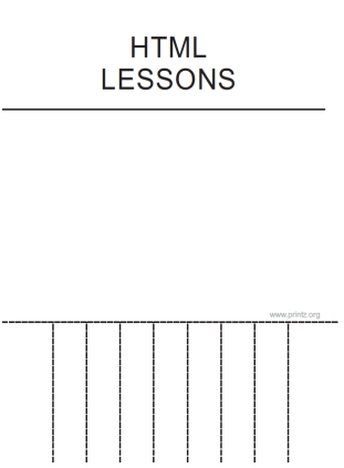 HTML Lessons Flyer