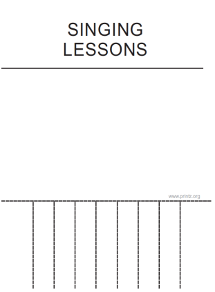 Singing Lessons Flyer