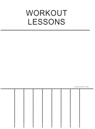 Workout Lessons Flyer