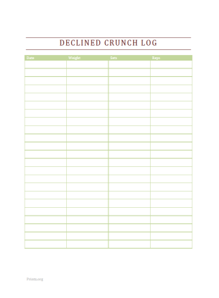 Declined Crunch Log