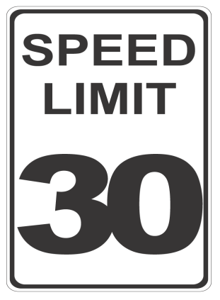 Speed Limit 30 sign