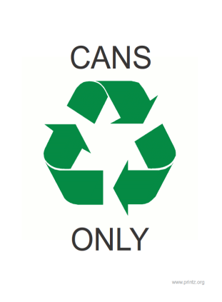Recycle Cans Only