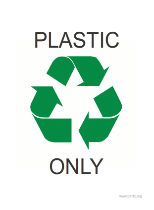 Recycle Plastics Only